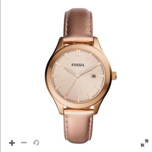 Gold Rose Fossil Watch